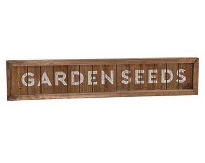 Garden Seeds Framed Sign