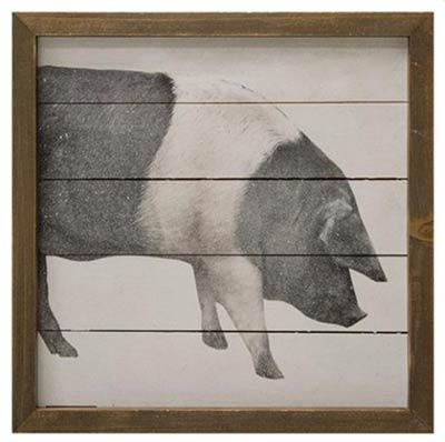 Farmhouse Pig Framed Sign