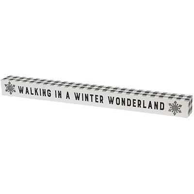 Walking in a Winter Wonderland Buffalo Check Shelf Sitter