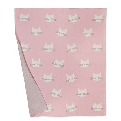 Cute Cat Face Throw Blanket