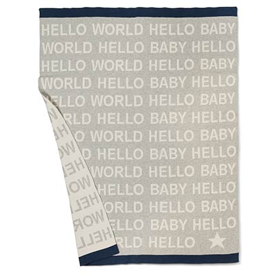 Hello Baby Throw Blanket