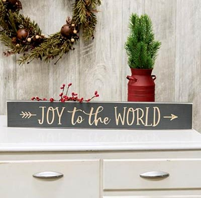 Joy to the World Engraved 24 inch Sign