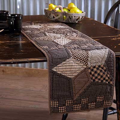 Farmhouse Star 48 inch Quilted Table Runner