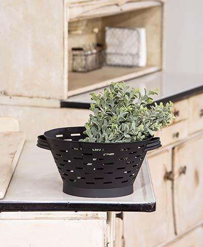 Black Olive Basket Colander - 10.75 inch