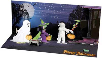 Trick or Treaters - Sight & Sound Pop-up Card