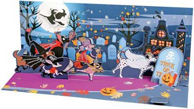 Trick or Treat Dogs Pop-up Card