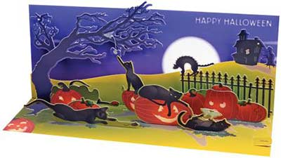 Halloween Cats Pop-up Card