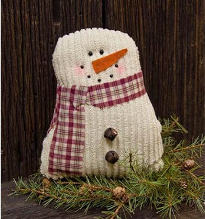 Tea Stained 7.5 inch Snowman