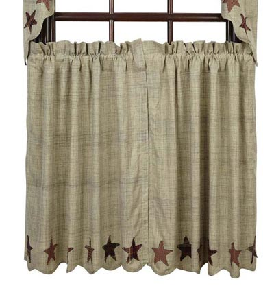 Curtains Ideas 36 inch cafe curtains : Abilene Star Cafe Curtains 36 inch Tiers, by VHC Brands - The Weed ...