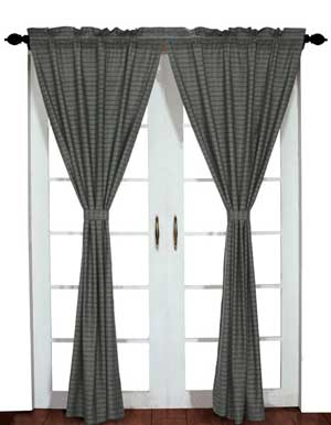 America Curtain Panel - Gunmetal