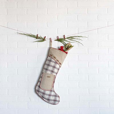Amory20 inch Stocking with Pocket