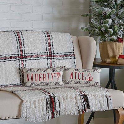 Amory Naughty and Nice Pillow (Set of 2)