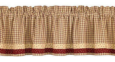 Apple Jack Cafe Curtains - 24 inch Tiers