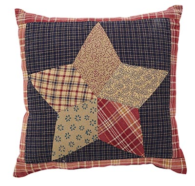 Arlington Star Quilted Pillow