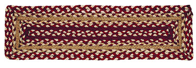 Checkerberry Braided Stair Tread - Rectangle