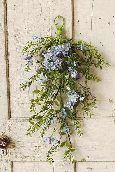 Lilac Floral Teardrop