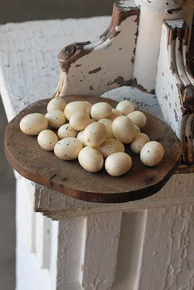 Mini Cream Speckled Eggs (Set of 24)