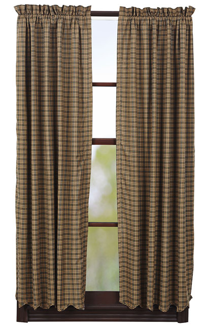 Barrington Panels - 63 inch (Green Plaid)