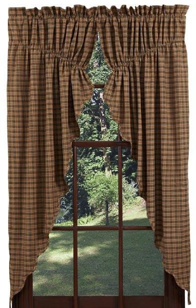 Barrington Prairie Curtain Green Plaid