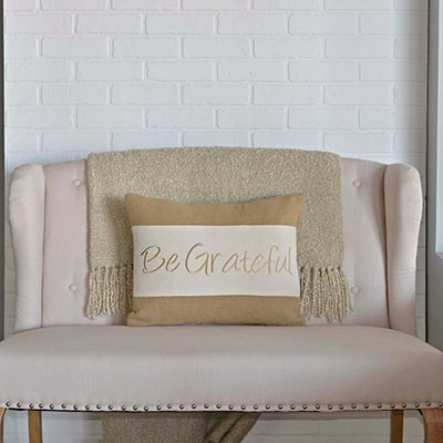 Be Grateful Pillow (14x18)