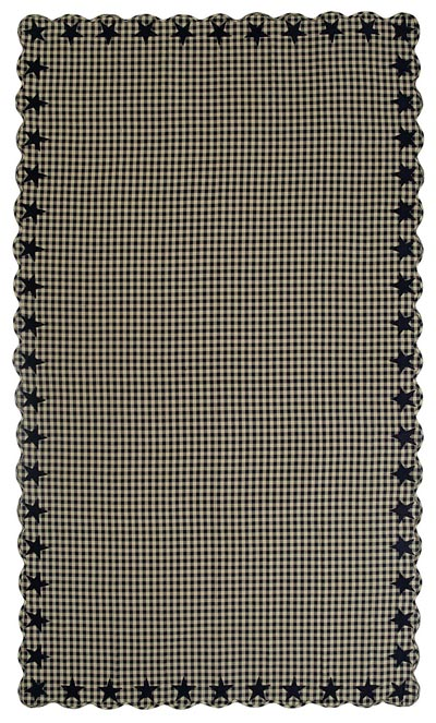 Black Star Tablecloth - 60 x 120 inch (Black and Tan)
