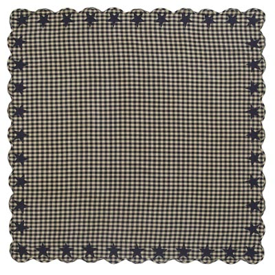 Black Star Tablecloth - 60 x 60 inch (Black and Tan)