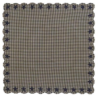Black Star Tablecloth - 60 x 60 inch (Black and Tan)