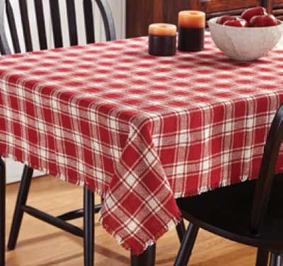 Breckenridge Burlap Plaid Tablecloth, 60 x 60 inch