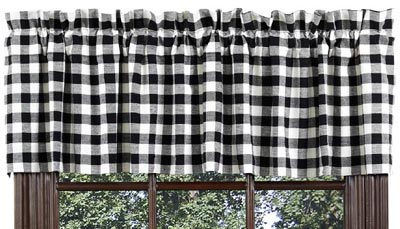 Buffalo Check Black Valance