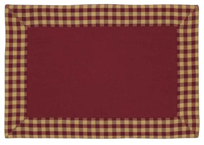 Burgundy Check Placemat