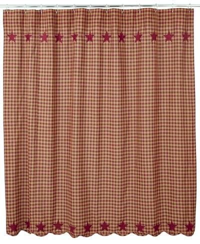 Burgundy Star Shower Curtain