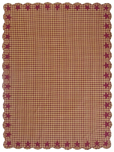 Burgundy Star Tablecloth - 60 x 80 inch