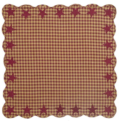 Burgundy Star Tabletopper/Tablecloth (40 x 40 inch)
