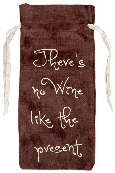 Burlap Brown Wine Bag