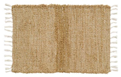 Burlap Natural Chindi Rag Rug (Special Order Sizes)