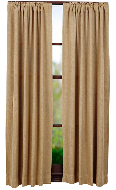 Burlap Natural Panels (63 inch)