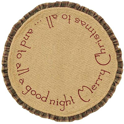 Burlap Santa Tablemats (Set of 2)