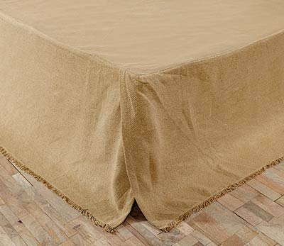Burlap Natural Bed Skirts (Multiple Size Options)