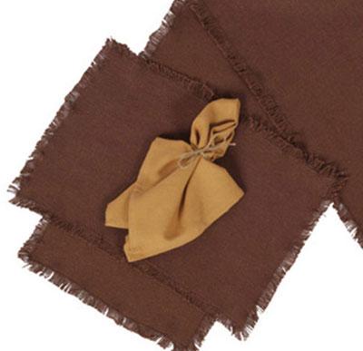 Burlap Brown Placemats (Set of 2)
