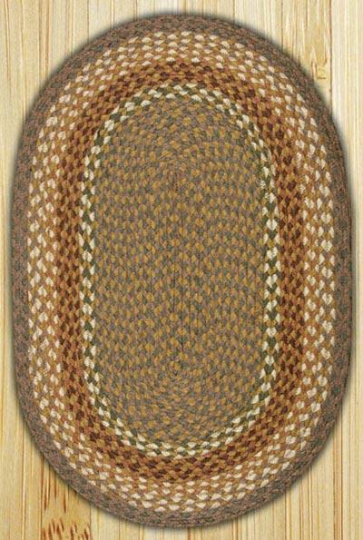 Mustard / Ivory Oval Jute Rug (Multiple Size Options)
