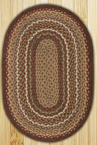 Burgundy/Ivory Oval Jute Rug (Multiple Size Options)