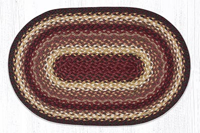 Claret 20 x 30 inch Braided Rug - Oval