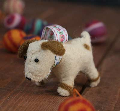 Terrier Felt Ornament