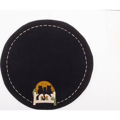 Cats on a Fence Candle Mat