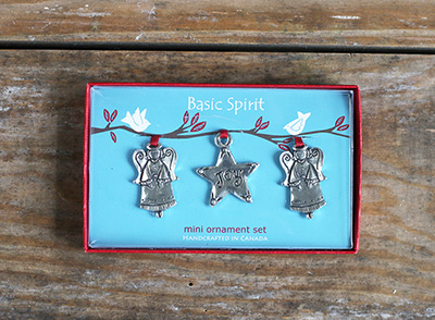 Angel and Star Mini Ornaments (Set of 3)