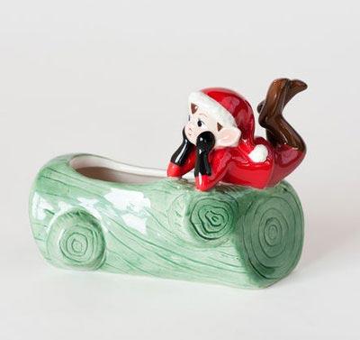 Elf on Log
