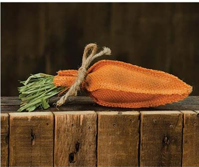Orange Burlap Carrot