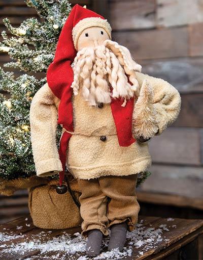Sherpa Santa Primitive Doll