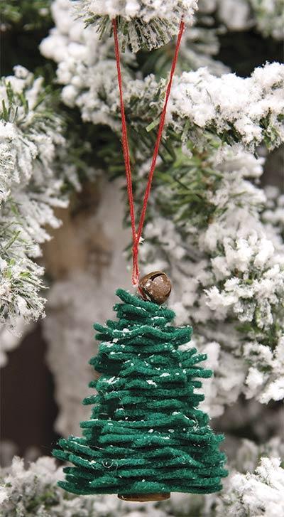 Green Felt Christmas Tree Ornament