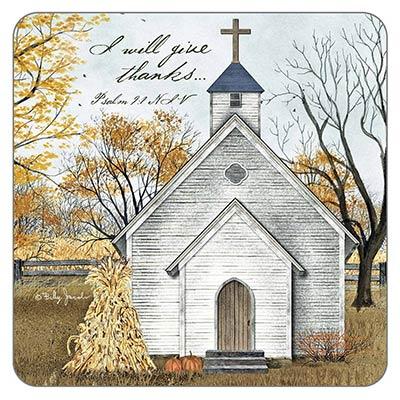 Autumn Church Coaster